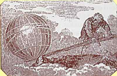 Archimedes lifting the world
