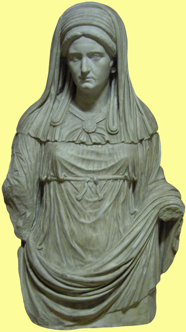 Statue of a Vestal virgin