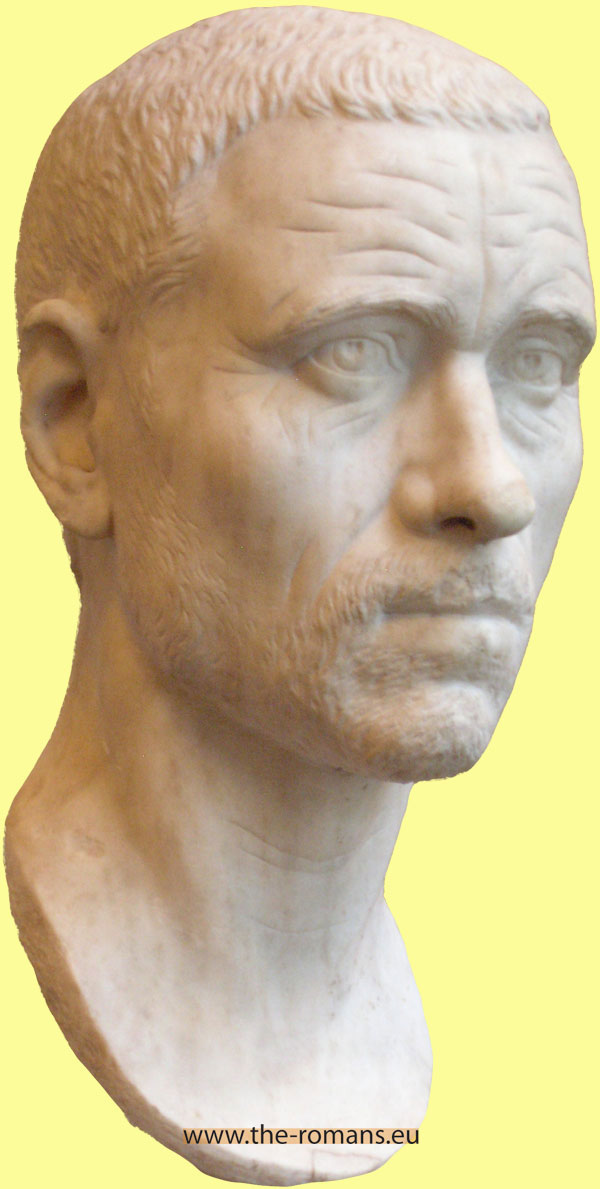 head of a Roman man