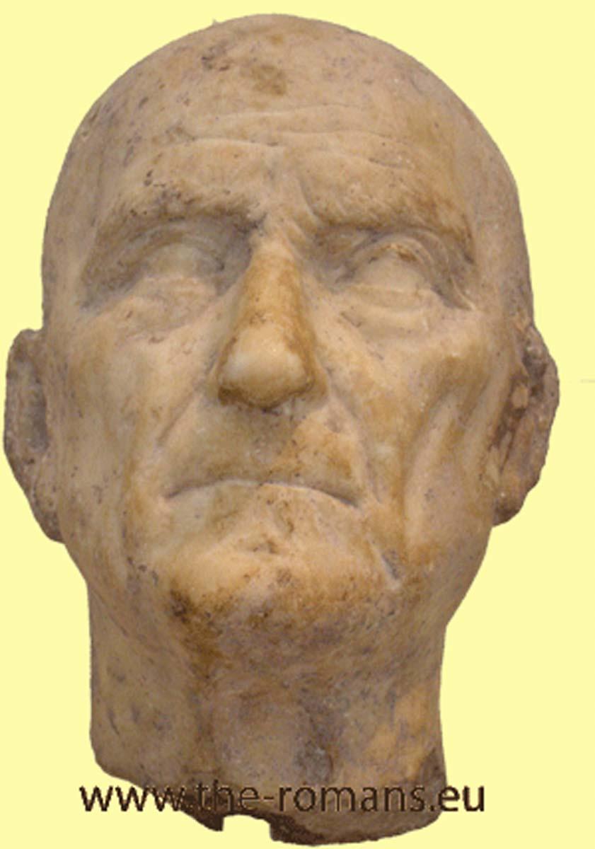 Marble head of a Roman man