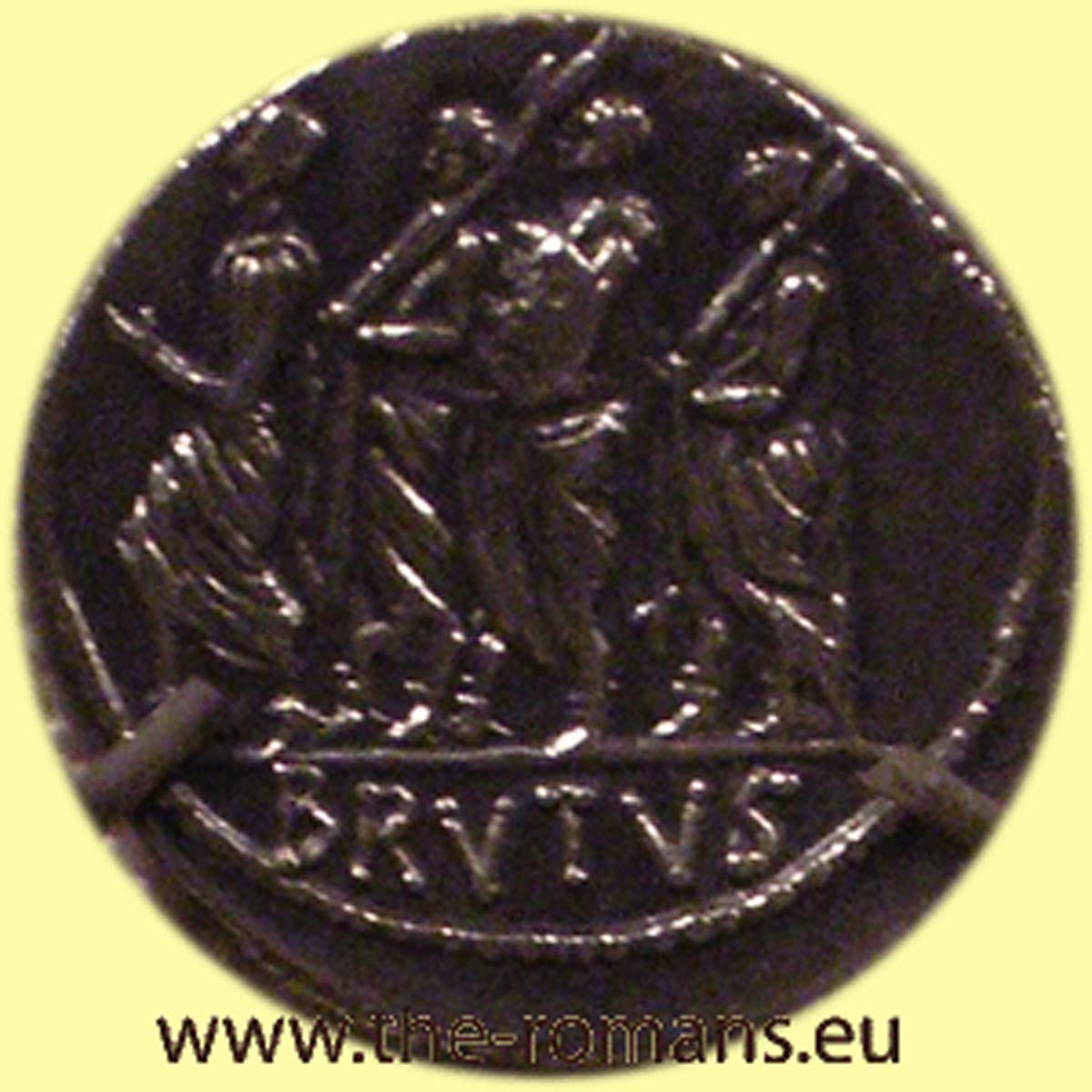 Coin with iunius Brutus as consul