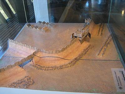 Model of the Roman wall