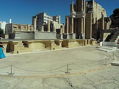 Podium of the Roman theatre in Cartagena