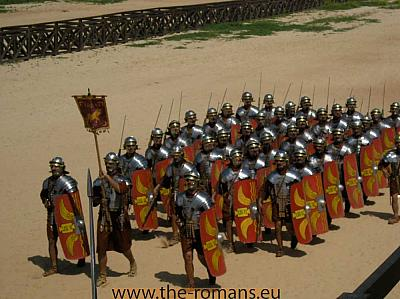 Roman legionnaires on the march