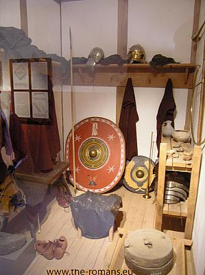 Reconstructed legionaries room