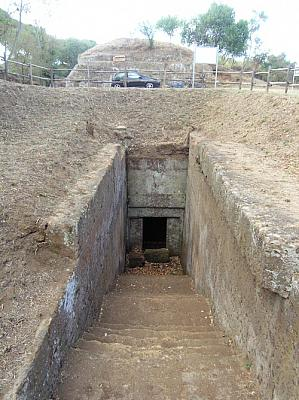 Entrance to an underground burial room