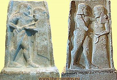 2 sided stele of a man and a woman
