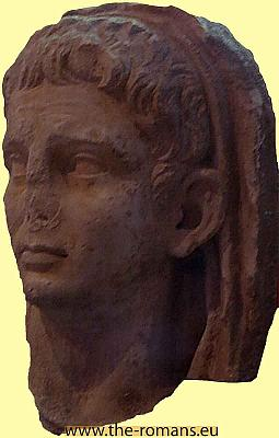 Head of emperor Claudius