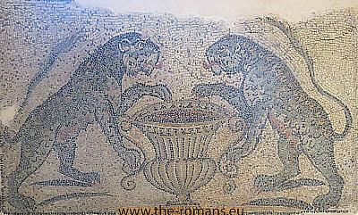 Mosaic of 2 lions