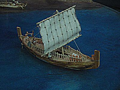 Phoenician ship model