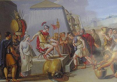 Surrender of cartagen to Scipio