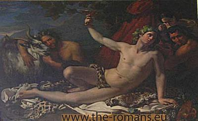 Bacchus  and satyrs