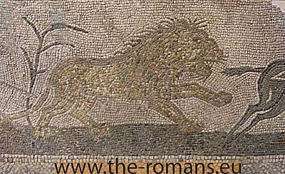 Mosaic with a lion