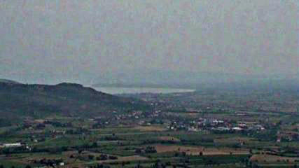 lake trasimeno seen from Cortona