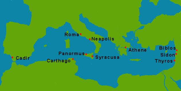 map ancient Roman world 800bc
