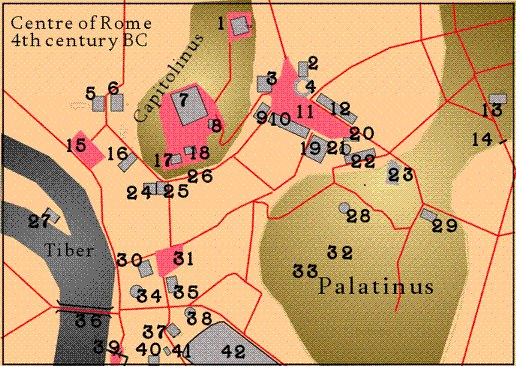 Map of Rome 400bc